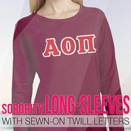 Our complete collection of Sorority Long-Sleeve T-Shirts