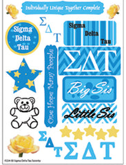 Sigma Delta Tau Sorority Greek stickers and gear