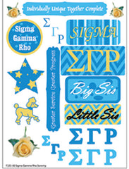 Sigma Gamma Rho Sorority Greek stickers and gear