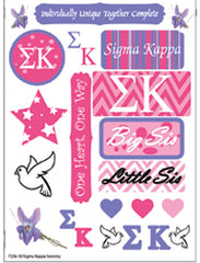 Sigma Kappa Sorority Greek stickers and gear