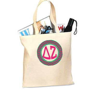 sorority chevron printed budget tote bag greek fraternity clothing and merchandise