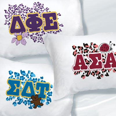 Something Greek Exclusive Sorority Letter Pillowcases