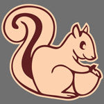 Squirrel print design for Custom Greek sorority clothing