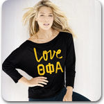 Theta Phi Alpha National Sorority clothing Greek screen printed shirts