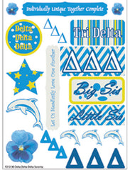 Delta Delta Delta Tri Delta Sorority Greek stickers and gear