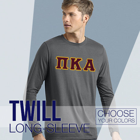 Fraternity Long Sleeve Twill Lettered Shirt