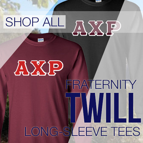 Fraternity Twill Lettered Long-Sleeve Tees