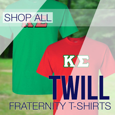 Fraternity Twill Lettered Short Sleeve Shirts