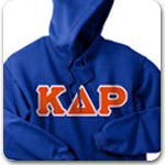 Kappa Delta Rho Fraternity lettered Greek merchandise