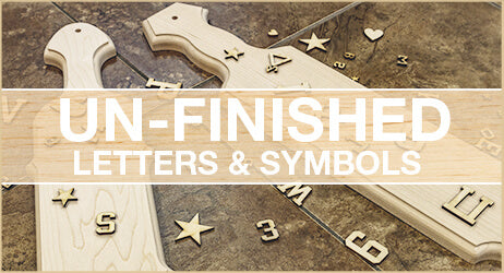 Unfinished letters and symbols