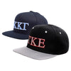 greek hat snapback adjustable cap flat curved brim package fraternity