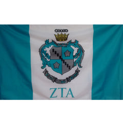 zeta tau alpha sorority greek flag banner mascot