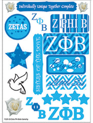 Zeta Phi Beta Sorority Greek stickers and gear