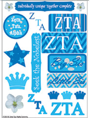 Zeta Tau Alpha Sorority Greek stickers and gear