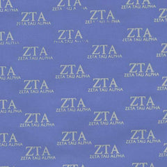 Zeta Tau Alpha Light Blue Pattern