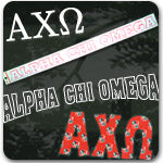 Alpha Chi Omega Sorority accessories and gifts Greek merchandise Greek gifts