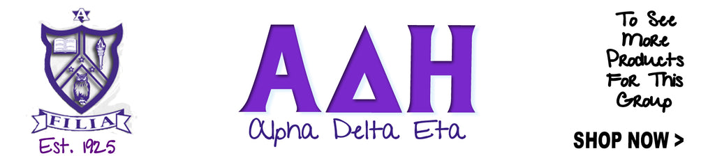 Alpha Dleta Eta Sorority clothing Custom Greek merchandise
