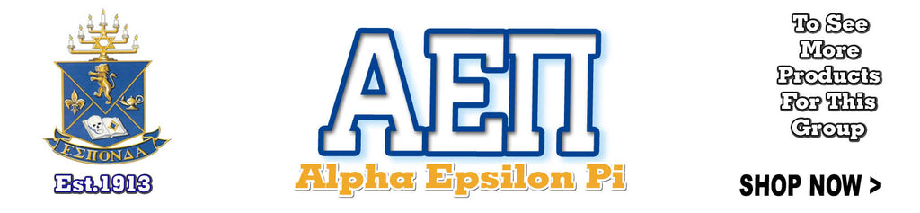 Alpha Epsilon Pi Fraternity clothing and Custom Greek merchandise