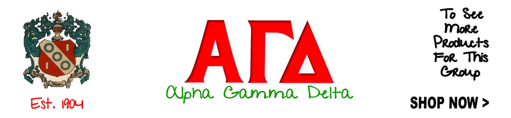 Alpha Gamma Delta Sorority Clothing and Custom Greek merchandise