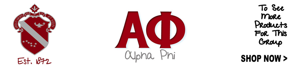 Alpha Phi Sorority clothing and Custom Greek gear