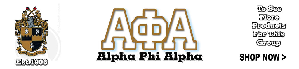Alpha Phi Alpha Fraternity clothing and Custom Greek merchandise