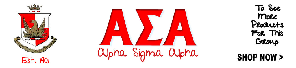 Alpha Sigma Alpha Sorority Custom Greek merchandise