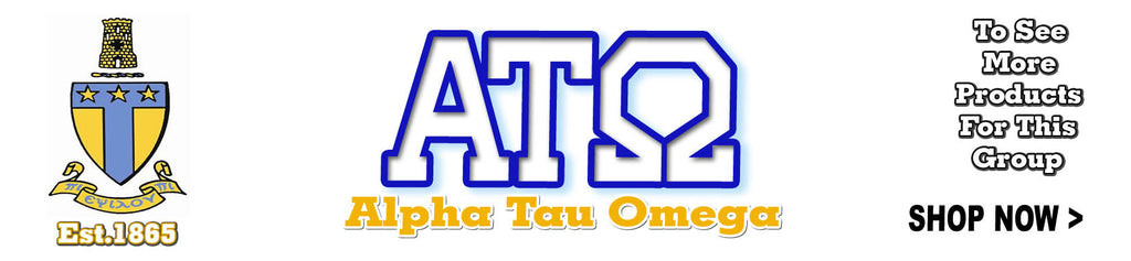 Alpha Tau Omega Fraternity clothing and Custom Greek merchandise