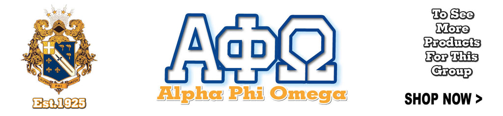 Alpha Phi Omega Fraternity clothing and Custom Greek merchandise