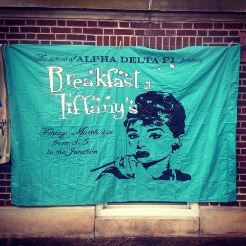 breakfast at tiffanys pledge rush recruitment theme ideas custom design