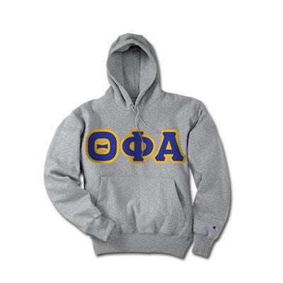 greek sorority fraternity winter champion hoodie custom letter pattern border color