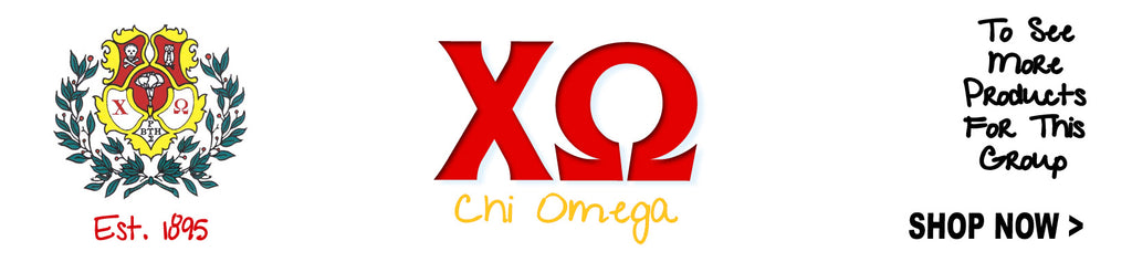 Chi Omega Sorority clothing and custom Greek merchandise
