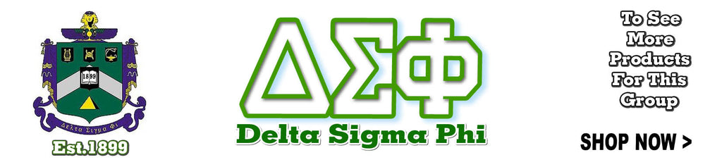 Delta Sigma Phi Fraternity letter clothing Custom Greek merchandise