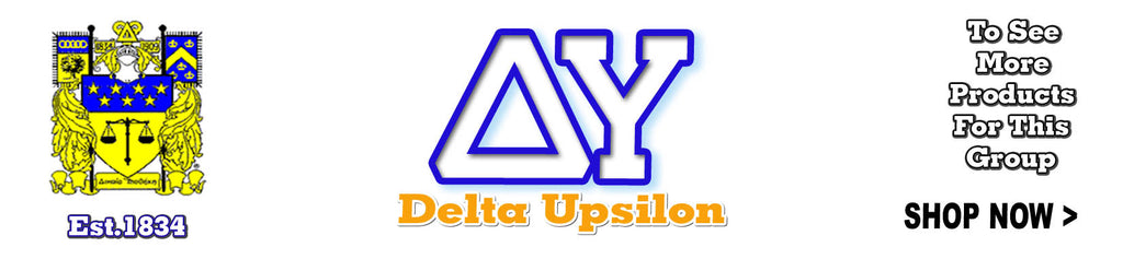 Greek fraternity delta upsilon apparel and gear tagged for Delta upsilon letters