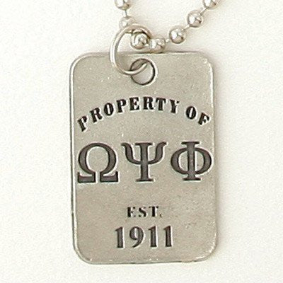 Something Greek Property of Dog Tag Accessory