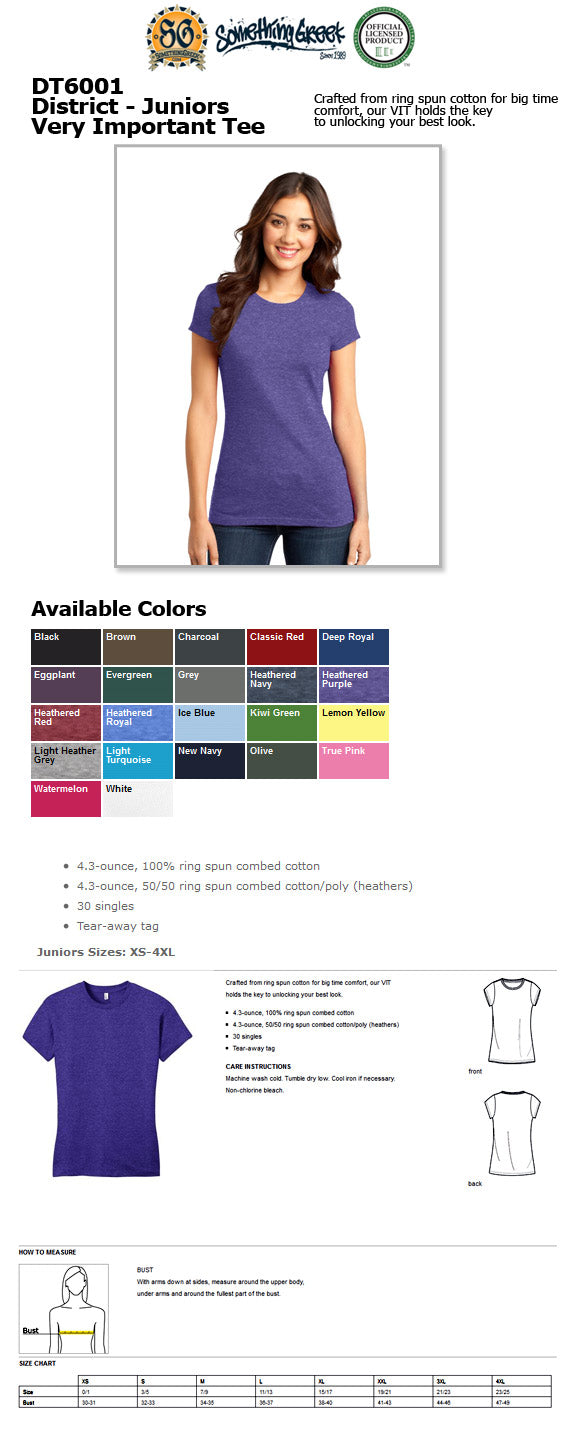 ladies t shirt SomethingGreek greek gear Sorority fraternity clothing custom design embroidery letters printed colors