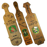 Custom Greek Paddles laser engraved branded paddle