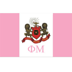 Phi Mu Sorority flag Custom Greek flags and banners