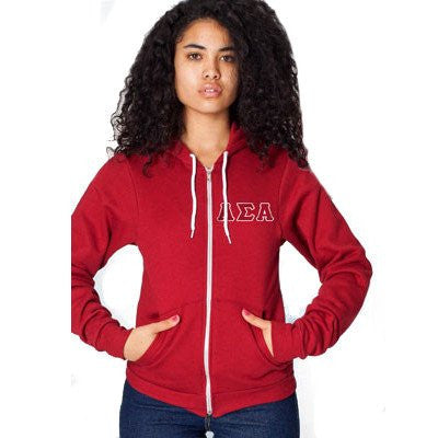 Something Greek American Apparel Custom Sorority Zip Hoodie