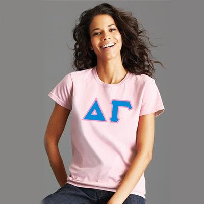 Custom Sorority printed letter shirt Custom Greek gear