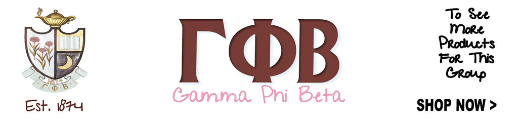 Gamma Phi Beta Sorority clothing and Custom Greek merchandises