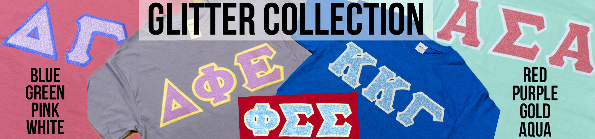 Sorority Shirts with Glitter Letters