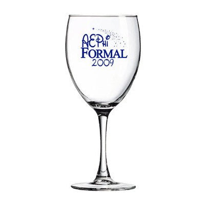 Custom Greek glassware and formal merchandise goblet glass