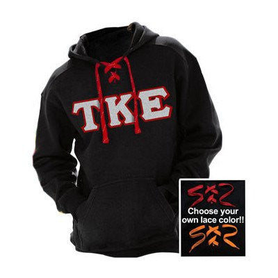 Custom Greek Fraternity Twill Letter Hockey Hoodie