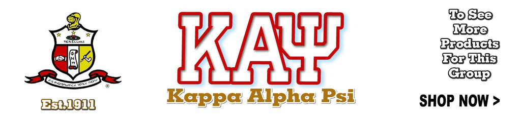 Kappa Alpha Psi Fraternity clothing and custom Greek merchandise