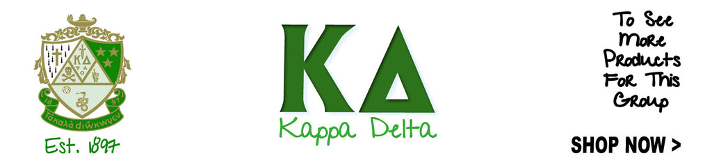 Kappa Delta Sorority clothing and Custom Greek merchandise