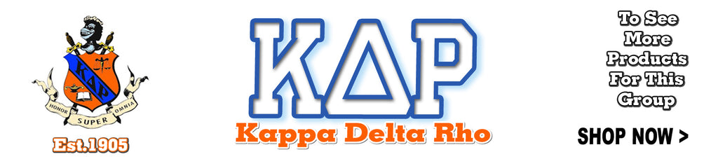Kappa Delta Rho Fraternity custom Greek merchandise