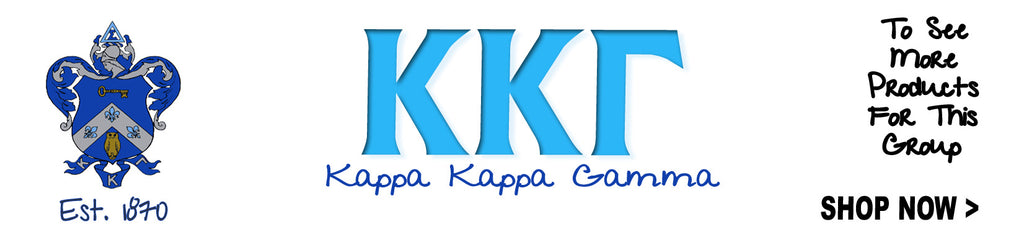 Kappa Kappa Gamma Sorority clothing and custom Greek merchandise