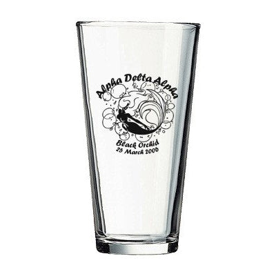 Custom Greek glass and formal merchandise Custom mixing glass