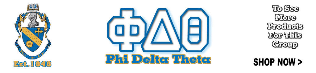 phi delta theta fraternity greek gear letter shirts custom printed embroidery clothes design mascot