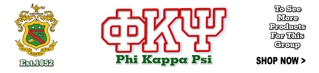Phi Kappa Psi Fraternity clothing and Custom Greek merchandise